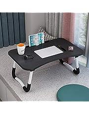 حامل كمبيوتر محمول قابل للطي للطاولة للكمبيوتر المحمول وطاولة صغيرة محمولة وحامل للقراءة للسرير والأريكة (أسود)