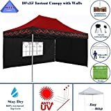 Cheap 10'x15′ Pop up 4 Wall Canopy Party Tent Gazebo EZ Red Flame – E Model By DELTA Canopies