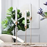 Sziqiqi Single-Head Wrought-Iron Candlestick Stand, Wedding/Dinning Table Decorative Candle Holder, Golden Candlelight Dinner Candle Holder Ornaments