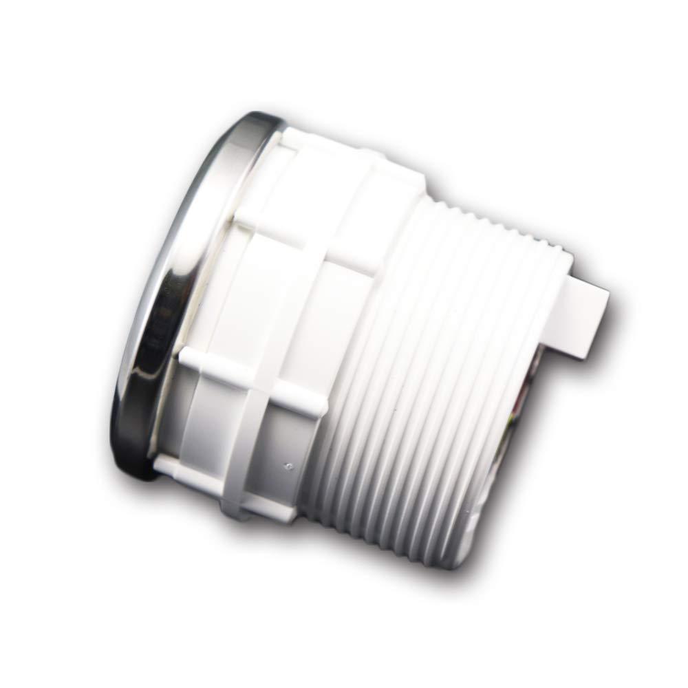 MOTOR METER RACING Electronic Oil Pressure Gauge PSI 2 LED Backlit White Amber Waterproof Pin-Style Install