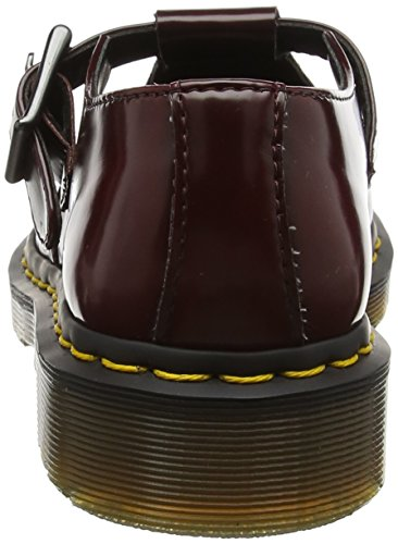 Dr. Martens Womens Vegan Polley T-bar Fashion Mary Janes Rosso Ciliegia
