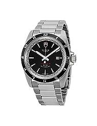 Tudor Grantour Black Dial Stainless Steel Mens Watch 20500N-BKSSS