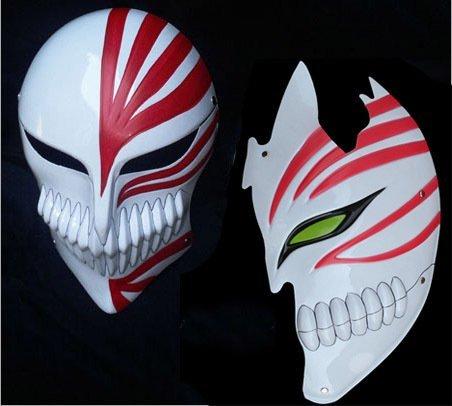 Xhan 2 Pcs Bleach Kurosaki Ichigo Bankai Hollow Mask Full and Half Props