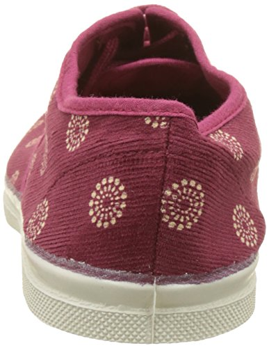 Tennis Rouge Bordeaux Corduroy Femme Baskets Bensimon Basses ikOPXZu