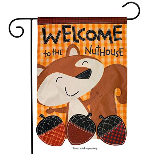 Briarwood Lane Welcome to The Nuthouse Autumn Applique Garden Flag Fall Humor 12.5