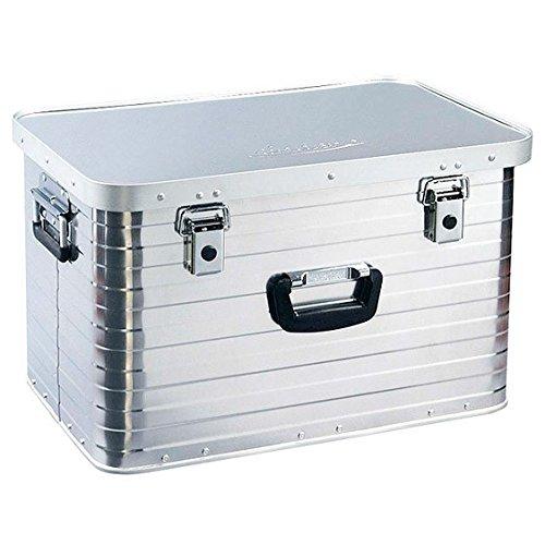 Alubox 63 Liter, hochwertig verarbeitet, mit Moosgummidichtung, Alukiste flexibel verwendbar als Transportbox und Lagerbox - Alukoffer Lagerkisten Metallkiste Metallbox Aluboxen Alukisten