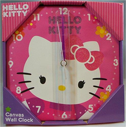 """Hello Kitty Canvas Wall Clock 10"""""""