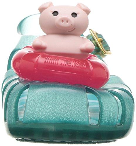 Mini Melissa Girls' Mini Aranha Xi Ballet Flat, Turquoise/Clear, 7 M US Toddler - Image 4