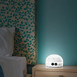 HemingWeigh White Noise Machine - Quality Sounds Masks Disturbing Noise and Reducing Sound for Improved Sleep, Relaxation and Enriched Concentration - Built in USB & LED Night Light.