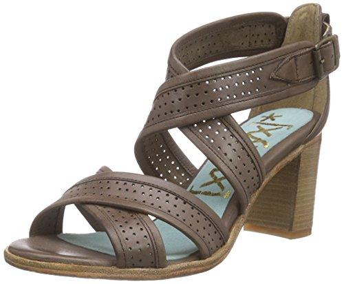 xyxyx Pumps, Women's Ankle Strap Pumps Brown - Braun (Dk Brown)