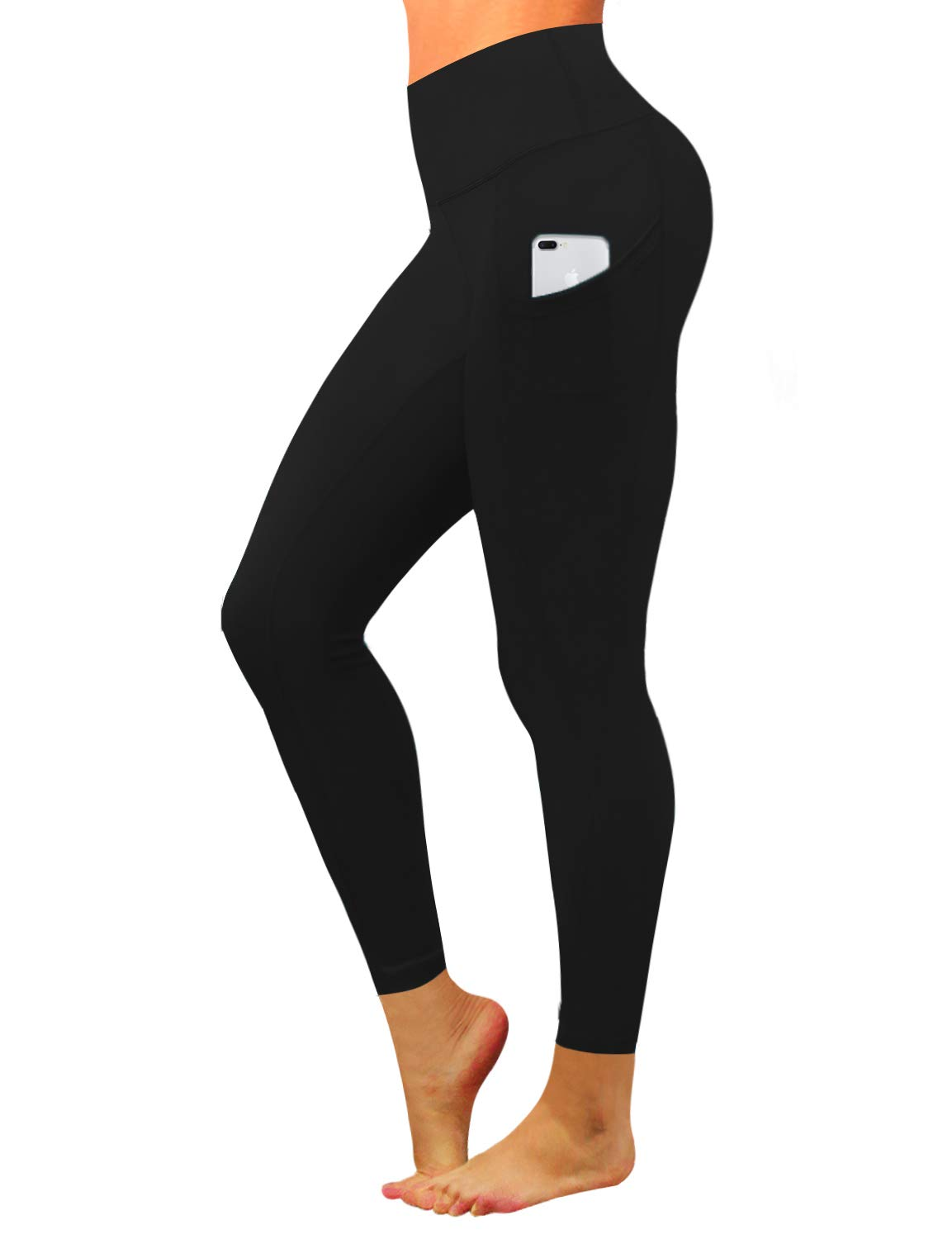 BUBBLELIME High Compression Yoga Pants Out Pocket Running Pants High Waist Tummy Control UPF30+