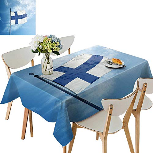 (UHOO2018 Solid Tablecloth Flag finl mast Square/Rectangle Spillproof Fabric Tablecloth,54 x110inch )