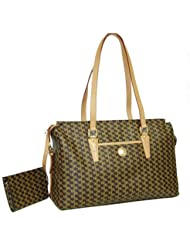 Aristo Brown Tote Traveler by Rioni Designer Handbags & Luggage