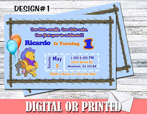 Winnie The Pooh Personalized Birthday Invitations More Designs Inside