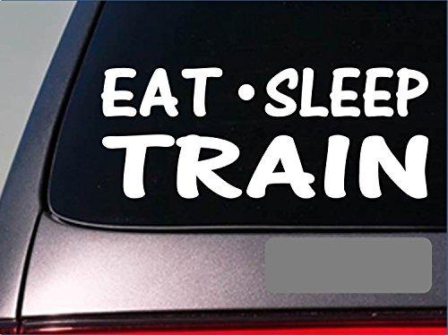 (Tollyee Car Decals and Stickers Eat Sleep Train StickerH26 8