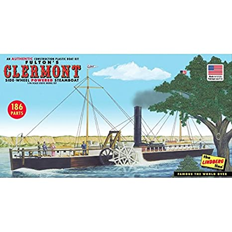 Amazon.com: Lindberg HL200/06 1/96 Fultons Clermont Paddle Wheel Steamship: Toys & Games