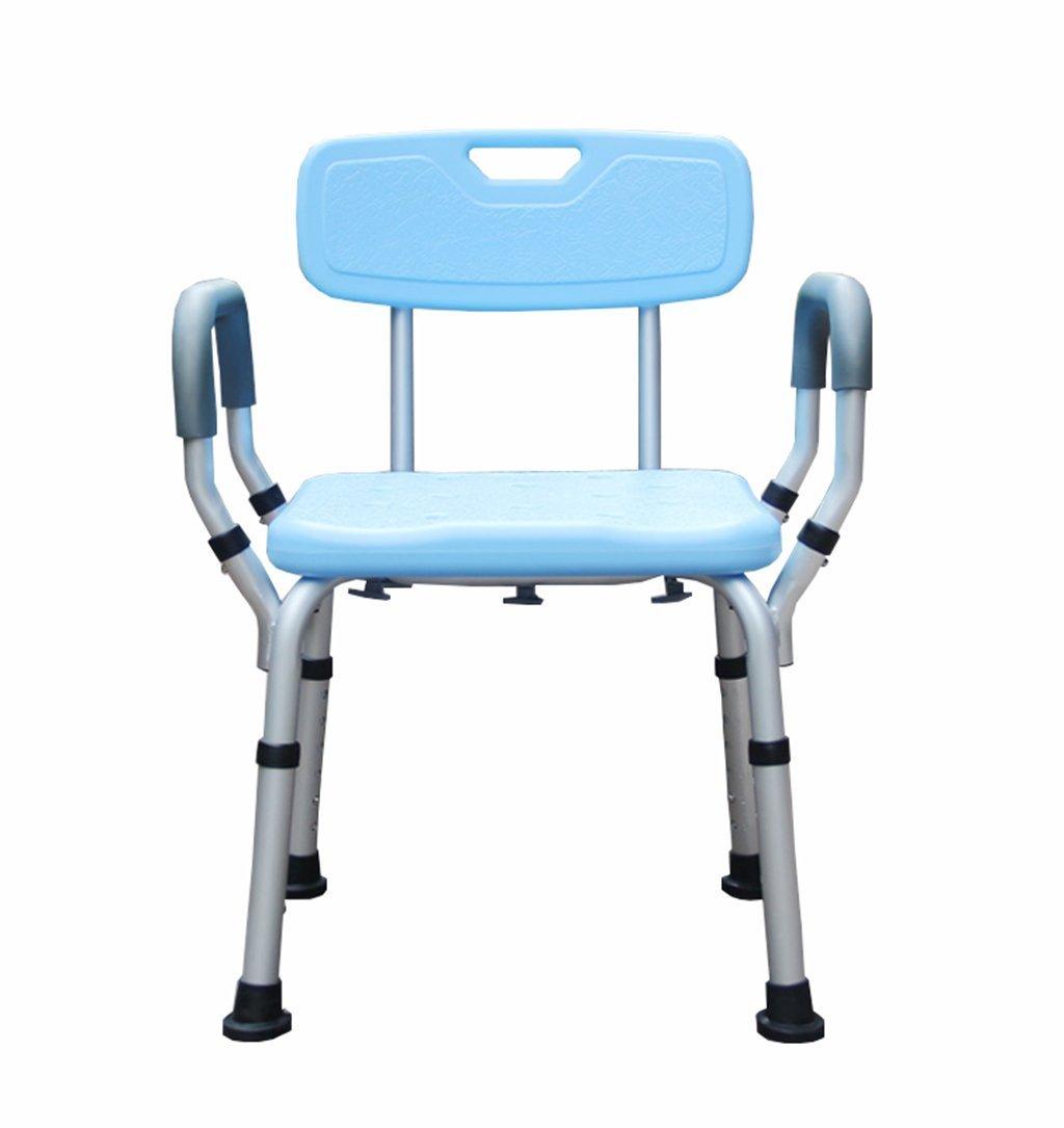 高齢者とアルミニウム合金のシャワーシートのためのバススツール妊娠中の女性シャワースツール障害者浴室の安全椅子 - 青 B07DSD77R6