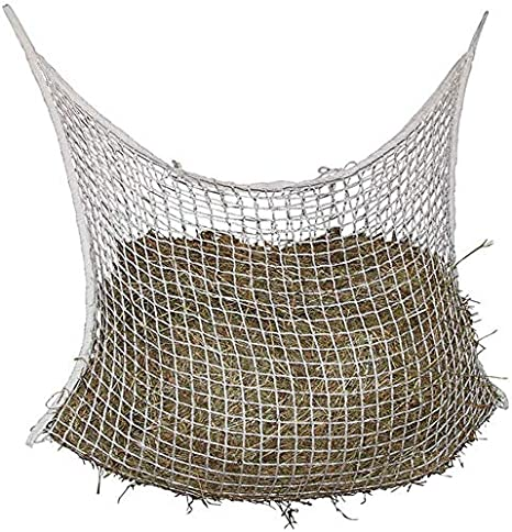LYXMY Heu – Bolsa de red para caballos, cuerda para colgar, con red trenzada, nailon, hierba, forro para paja, 120 x 90 cm., talla única