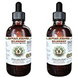 Bilberry Alcohol-FREE Liquid Extract, Organic Bilberry (Vaccinium myrtillus) Dried Leaf Glycerite Hawaii Pharm Natural Herbal Supplement 2x4 oz