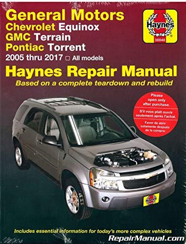 H38040 Chevrolet Equinox GMC Terrain Pontiac Torrent 2005-2017 Haynes Repair Manual