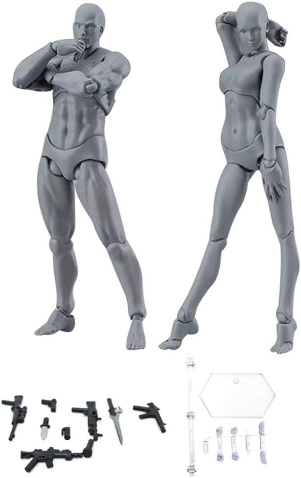 con armas,base,mano y pie Espeedy Modelo del cuerpo,2 piezas//Set cuerpo luz PVC Movebale figura acci/ón modelo para SHF versi/ón 2,0 regalos--