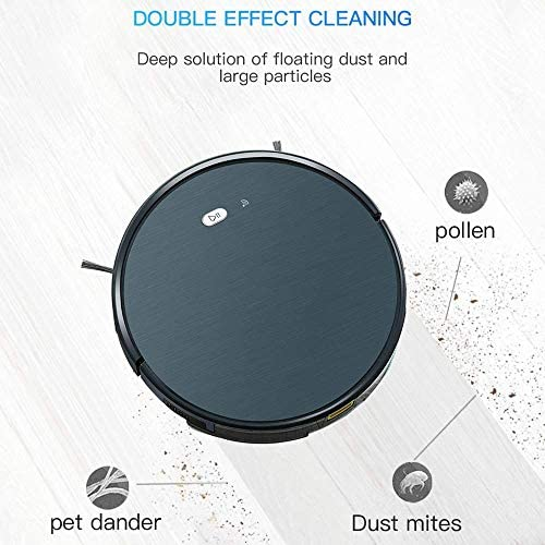 DHTOMC Aspirateur robot intelligent à vide pour robot 1800PA Poweful Saug 3 en 1 Pet pour les cheveux - Pour les débutants