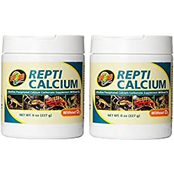 Zoo Med Reptile Calcium without Vitamin D3, 8-Ounce - 2 Pack