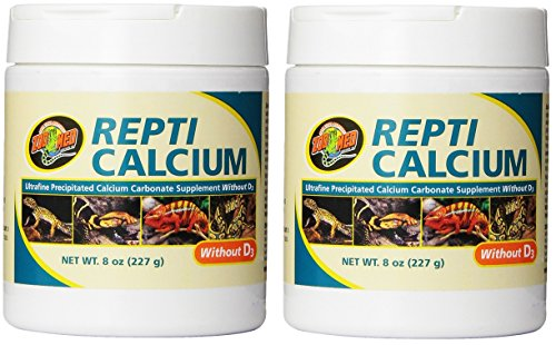 Zoo Med Reptile Calcium without Vitamin D3, 8-Ounce - 2 Pack by Zoo Med