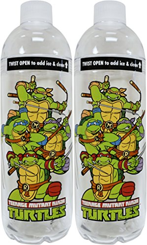 Set of 2 Spoontiques Teenage Mutant Ninja Turtle Novelties! Collectors Items - BPA Free - Acrylic - Insulated - Reusable Drinkware Double Walled TNMT Travel Set! (2, TMNT Bottle) -