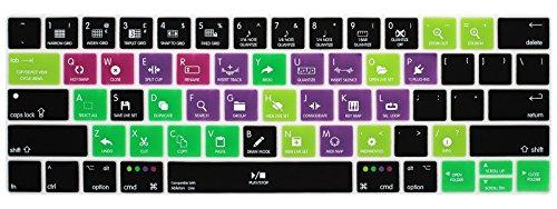 Allytech 2016-NEW US Layout Ultrathin Keyboard Skin Hot Keys Keyboard Cover for MacBook Pro 13