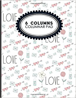 amazon com 6 columns columnar pad appointment book accounting