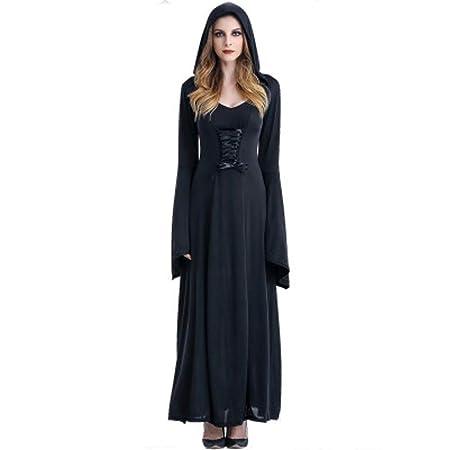 Fashion-Cos1 Traje de Bruja para Mujer Medieval Vestido Maxi ...