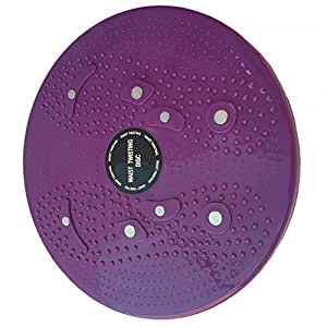 AT Bags Waist Twisting Disc Figure Twister Twister Moves Ankle Body Aerobic Exercise Foot Exercise Fitness Twister Figure Trimmer Magnet Balance Rotating Board YL40Purple