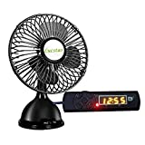 Lucstar Table USB Fan Quiet and Powerful with USB Charger Timer, Creative Switch Reserved and Operating Time, for Baby Sleep,Home,Office and DIY