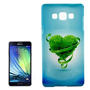Green Heart Pattern Plastic Protective Case for Samsung Galaxy A7 / A700