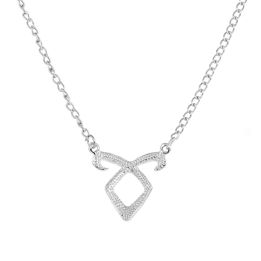 LUREME Angelic Power Rune Necklace Inspired by The Mortal Instruments City of Bones (nl005368)