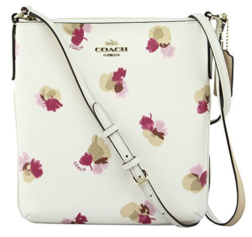 Coach Women's Field Flora Print Coated Canvas North South Crossbody Handbag, Style F59848, Im Chalk Multi - Coated Canvas