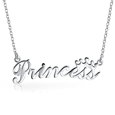 Amazon bling jewelry princess crown pendant sterling silver bling jewelry princess crown pendant sterling silver necklace 16 inches aloadofball Choice Image