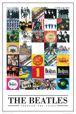 The Beatles Through The Years Poster Rolled 24 x 36  PSA034229 - 1960 Poster Print