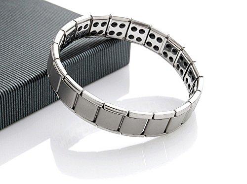 Men Titanium 80 Power Germanium Stones Magnetic Therapy Bracelet (Elastic Power Bracelet)