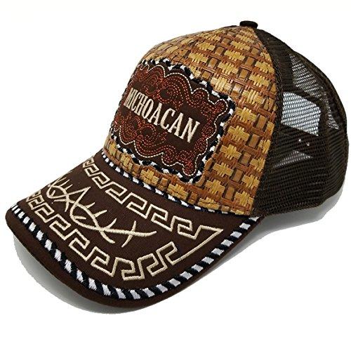 8b0210cd96d MrKap Mexico Straw Mesh Cap Metal Metalic Patch Baseball Rooster Eagle Trucker  Hat - Delocus Store
