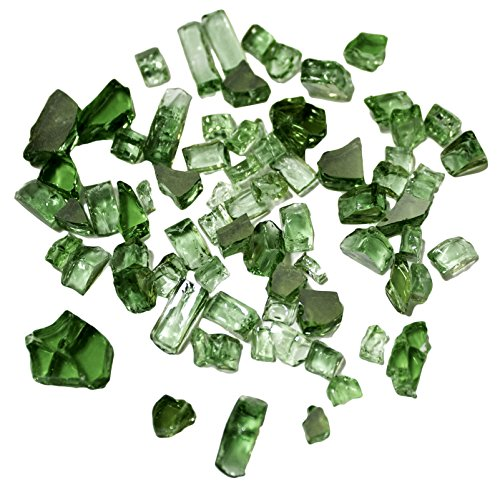 Hiland Reflective Fire Glass, 10 lb, Green