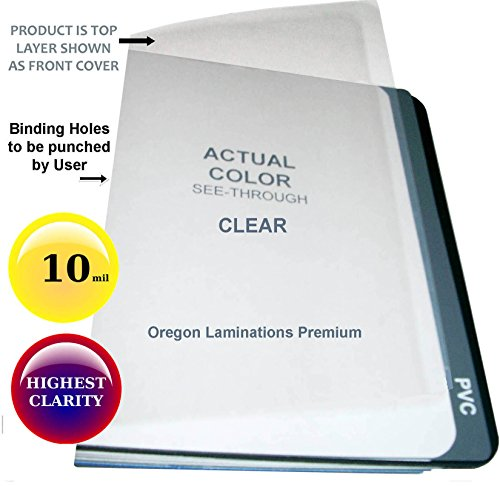 Premium Binding Cover - Qty 100 Clear Plastic Report Binding Covers 10 Mil 8-1/2 x 11 inch