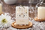 Finex® 100 pcs Premium Korean Wedding Design *Bride & Groom under Fireworks Castle* Party Favors Candy Boxes *Hollow Carved Laser Die Cut Gold Foil Embossing* DIY Sweet Treat box for Guests