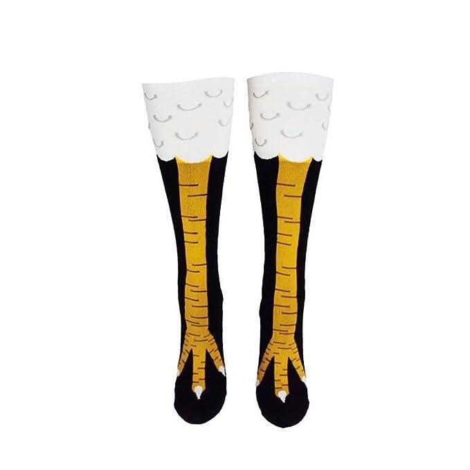 Vin beauty Pollo divertido 3D calcetines pies Muslo altos calcetines creativos Medias de la manera delgada: Amazon.es: Ropa y accesorios