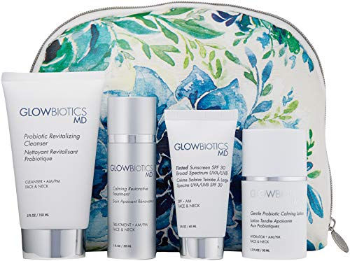 Glowbiotics MD Probiotic Soothing Daily Essentials Kit with Tinted Sunscreen SPF 30, 5 ct