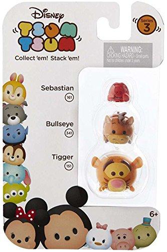 Bullseye /& Tigger 1 Minifigure 3-Pack #161 Disney Tsum Tsum Series 3 Sebastian 341 /& 151