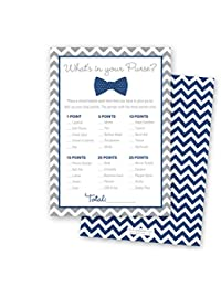 24 Bow Tie What's In Your Purse Game Cards (Navy) BOBEBE Online Baby Store From New York to Miami and Los Angeles