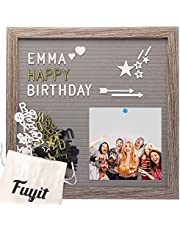 Fuyit Felt Letter Board 12 x 12 inch Soft and Flexible EVA Memo Board for Photo Display with Total 600 Changeable Characters and One Stand and Storage Bag for Home Kitchen Classroom Business