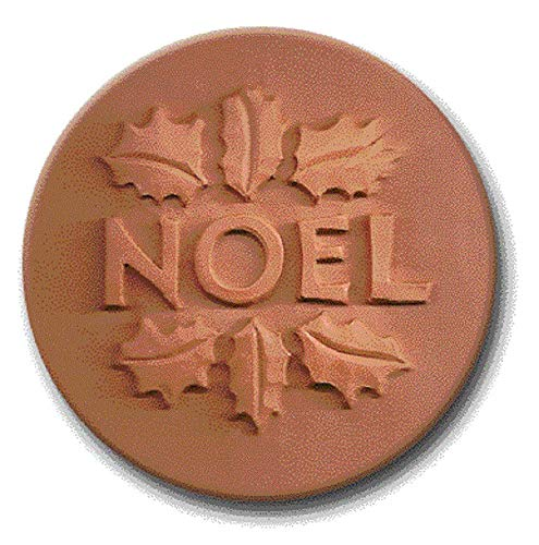RYCRAFT 2 inch Round Cookie Stamp with Handle & Recipe Booklet-NOEL